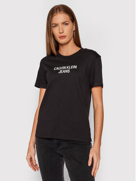 Calvin Klein Jeans Calvin Klein Jeans Футболка J20J217286 Чорний Regular Fit