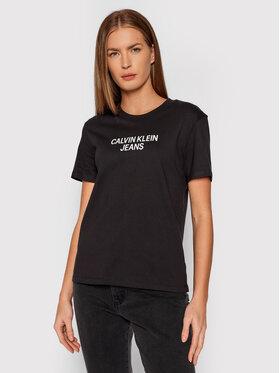 Calvin Klein Jeans Calvin Klein Jeans Tričko J20J217286 Čierna Regular Fit