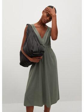 Mango Mango Sukienka letnia Domencio 87088634 Zielony Regular Fit