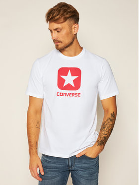 Converse Converse T-Shirt Box Star Tee 10019936-A01 Weiß Regular Fit