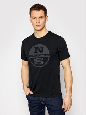 North Sails North Sails T-Shirt Graphic 692689 Czarny Regular Fit