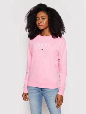 Tommy Jeans Tommy Jeans Bluza Tjw Essential Logo DW0DW09918 Różowy Regular Fit