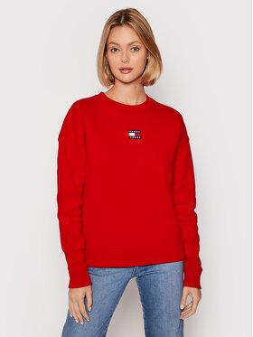 Tommy Jeans Tommy Jeans Bluza Tjw Center Badge DW0DW10402 Czerwony Regular Fit