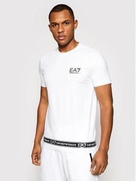 EA7 Emporio Armani EA7 Emporio Armani T-Shirt 3KPT05 PJ03Z 1100 Weiß Regular Fit