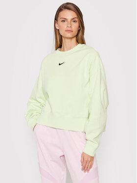 Nike Nike Bluza Sportswear Collection Essentials DJ7665 Zielony Oversize