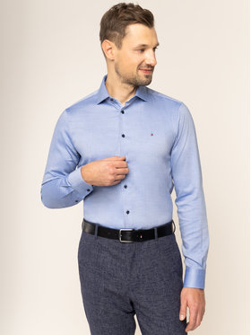 Tommy Hilfiger Tailored Tommy Hilfiger Tailored Cămașă TT0TT05974 Bleumarin Slim Fit