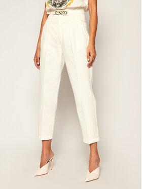 Pinko Pinko Παντελόνι υφασμάτινο Ariel 8 PE 20 PRR 1N12W9 Y6SL Λευκό Regular Fit
