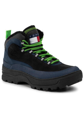 Tommy Jeans Tommy Jeans Ορειβατικά παπούτσια Hilfiger Expedition Boot EM0EM00378 Μαύρο