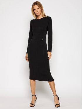 TwinSet TwinSet Φόρεμα υφασμάτινο 202TT2T26 Μαύρο Regular Fit