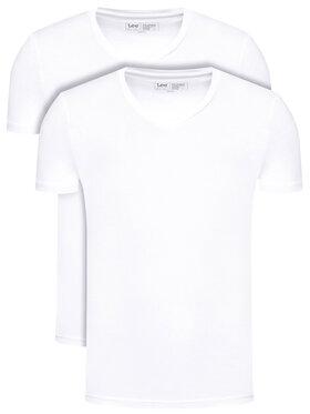 Lee Lee 2-dielna súprava tričiek Twin Pack L62ECM12 Biela Fitted Fit