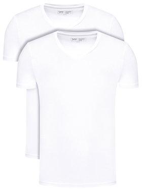 Lee Lee 2 marškinėlių komplektas Twin Pack L62ECM12 Balta Fitted Fit