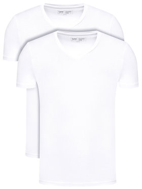 Lee Lee Lot de 2 t-shirts Twin Pack L62ECM12 Blanc Fitted Fit