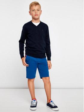 Tommy Hilfiger Tommy Hilfiger Sweter Basic VNeck Sweater KB0KB03978 D Granatowy Regular Fit