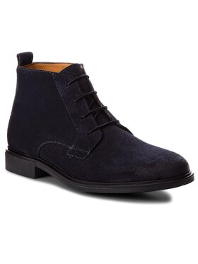 TOMMY HILFIGER TOMMY HILFIGER Auliniai batai Color Block Heel Suede Boot FM0FM01805 Tamsiai mėlyna
