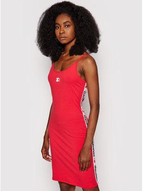 Starter Starter Ежедневна рокля SDG-012-BD Червен Slim Fit