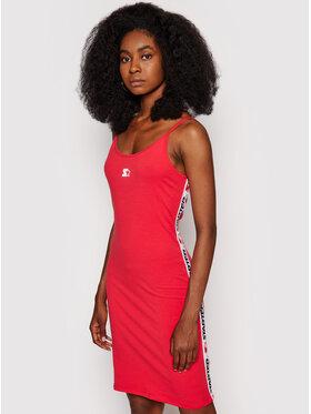 Starter Starter Každodenní šaty SDG-012-BD Červená Slim Fit