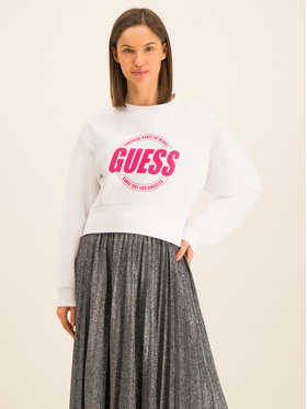 Guess Guess Μπλούζα Ballaria W01Q78 K68I0 Λευκό Regular Fit