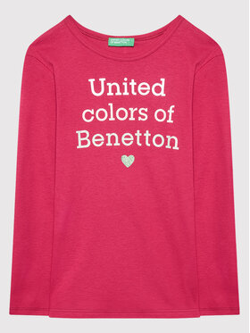 United Colors Of Benetton United Colors Of Benetton Bluză 3I9WC15BM Roz Regular Fit
