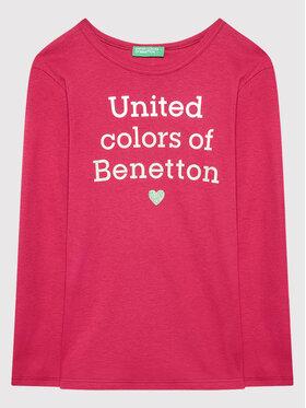 United Colors Of Benetton United Colors Of Benetton Μπλουζάκι 3I9WC15BM Ροζ Regular Fit