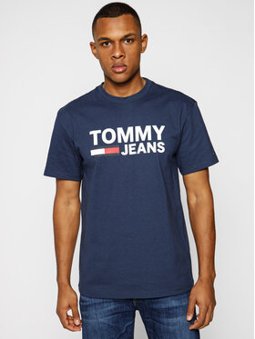 Tommy Jeans Tommy Jeans T-Shirt DM0DM04837 Σκούρο μπλε Regular Fit