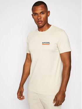 Rip Curl Rip Curl T-Shirt Surf Revival Stripe Tee CTEOX9 Béžová Standard Fit