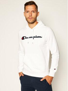 Champion Champion Bluza Satin Script Logo 214183 Biały Comfort Fit