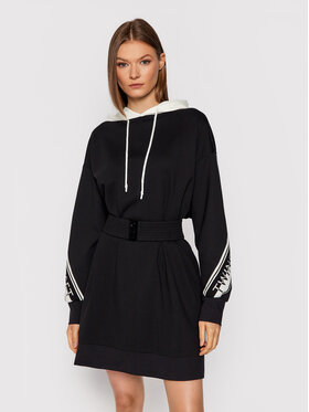 TWINSET TWINSET Sukienka dzianinowa 212TT2382 Czarny Regular Fit