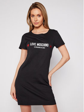 LOVE MOSCHINO LOVE MOSCHINO Každodenní šaty W592913M 3876 Černá Regular Fit