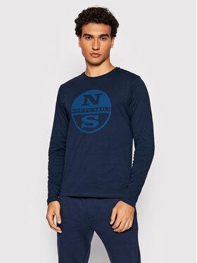 North Sails North Sails Marškinėliai ilgomis rankovėmis Organic 692753 Tamsiai mėlyna Regular Fit
