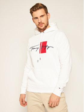TOMMY HILFIGER TOMMY HILFIGER Džemperis Signature Artwork MW0MW14202 Balta Regular Fit