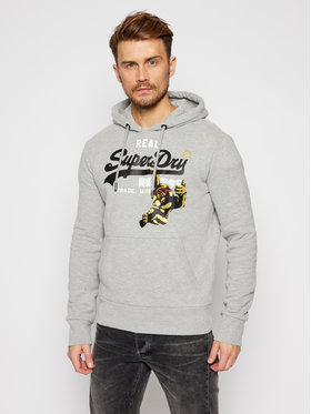 Superdry Superdry Bluza Nyc Photo M2010433B Szary Relaxed Fit