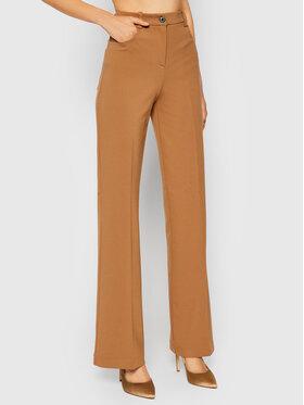 Pinko Pinko Spodnie materiałowe Abha 1G16QW 1739 Brązowy Regular Fit