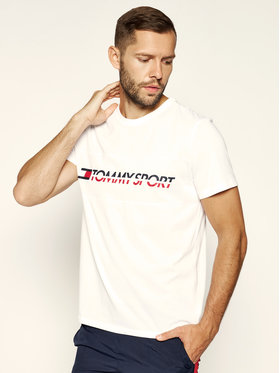 Tommy Sport Tommy Sport T-Shirt S20S200082 Λευκό Regular Fit