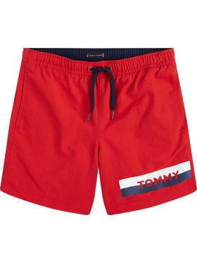 TOMMY HILFIGER TOMMY HILFIGER Szorty kąpielowe Medium Drawstring UB0UB00277XL7 Czerwony Regular Fit