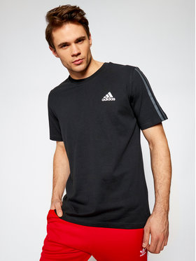 adidas adidas Тишърт Dk T GK9436 Черен Regular Fit