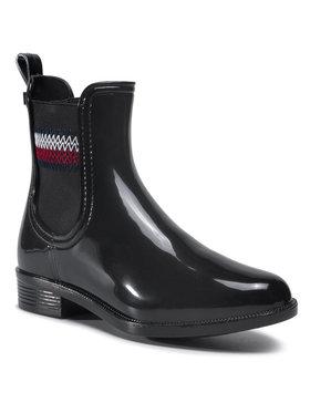 Tommy Hilfiger Tommy Hilfiger Bottes de pluie Corporate Elastic Rainboot Noir