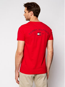 Tommy Hilfiger Tommy Hilfiger T-shirt Back Logo MW0MW17681 Rouge Regular Fit