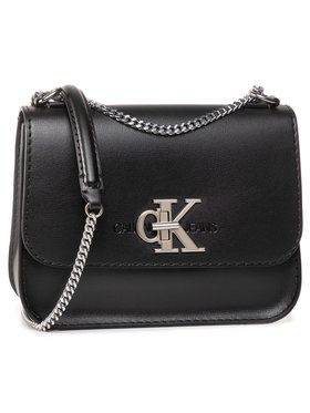 Calvin Klein Jeans Calvin Klein Jeans Handtasche Medium Flap W/Chain K60K606848 Schwarz