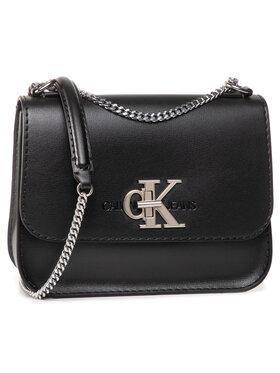 Calvin Klein Jeans Calvin Klein Jeans Τσάντα Medium Flap W/Chain K60K606848 Μαύρο