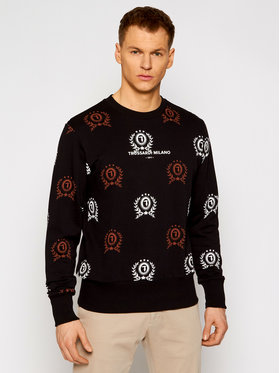Trussardi Trussardi Bluza Fleece 52F00160 Czarny Regular Fit