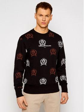 Trussardi Trussardi Majica dugih rukava Fleece 52F00160 Crna Regular Fit