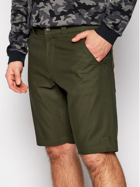 Helly Hansen Helly Hansen Pantaloncini di tessuto Essential Canvas 62945 Verde Relaxed Fit