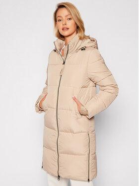 Calvin Klein Calvin Klein Płaszcz zimowy Elastic Logo Sorona K20K203050 Beżowy Regular Fit