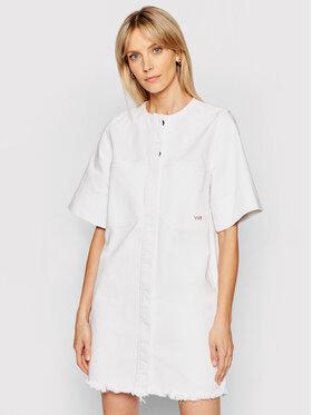Victoria Victoria Beckham Victoria Victoria Beckham Sukienka jeansowa 562 2221DDR002600B Biały Regular Fit