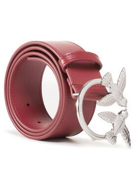 Pinko Pinko Damengürtel Berry Simply 4 Belt AI 20-21 PLT01 1H20S5 Y5FF Dunkelrot