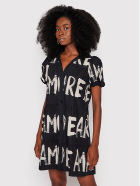Desigual Desigual Рокля тип риза Brixton 21WWVW37 Черен Relaxed Fit