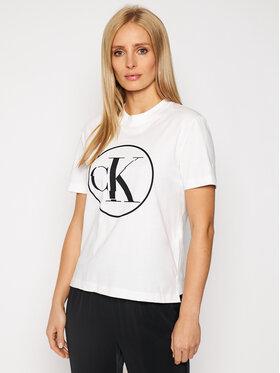 Calvin Klein Jeans Calvin Klein Jeans Tričko J20J215134 Biela Regular Fit