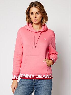Tommy Jeans Tommy Jeans Μπλούζα Tjw Branded DW0DW08980 Ροζ Loose Fit