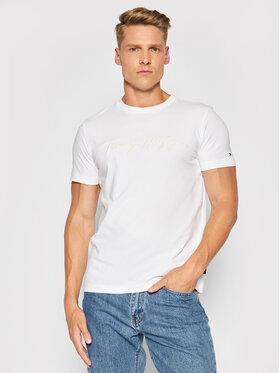 Tommy Hilfiger Tommy Hilfiger T-Shirt Signature Graphic Tee MW0MW18729 Bílá Regular Fit