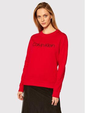 Calvin Klein Calvin Klein Pulóver Core Logo K20K202157 Piros Regular Fit